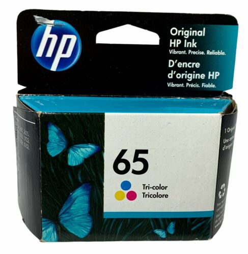 New In Box Sealed Genuine HP 65 Color Ink Cartridge Tri Color HP65 Exp Sep 2021  - $15.99