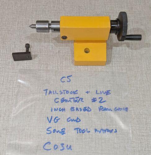 Emco Compact 5 Manual Lathe Parts: MT1 TailStock #2 & Live Center 200260 C03U