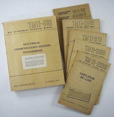 WWII US Army Radio Electronic Communication Test Set Reference Lot TM11-486