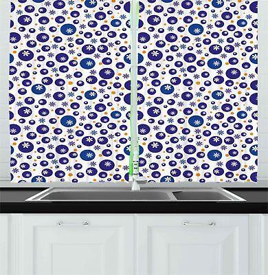vintage bohemian kitchen curtains 2 panel set