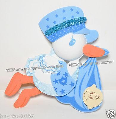 10 pc BABY SHOWER FAVORS GIFTS BLUE STORK DECORATION CENTERPIECE FOAM RECUERDOS (Baby Blue Foams)