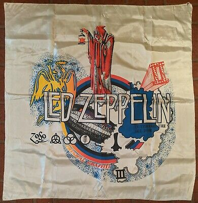 "Vintage 46"" Led Zeppelin In Through The Out Door Concert Silk Poster Banner Flag"
