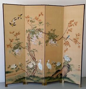Silk screen/room divider hand painted Curtin Woden Valley Preview