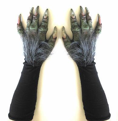 Grün Hag Böse Hexe Monster Klauen Hände Unheimlich Erwachsene Halloween Kostüm ()