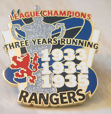 RANGERS Rare Victory Pins 3 in a row 1933-35 LEAGUE CHAMPIONS Badge Danbury Mint