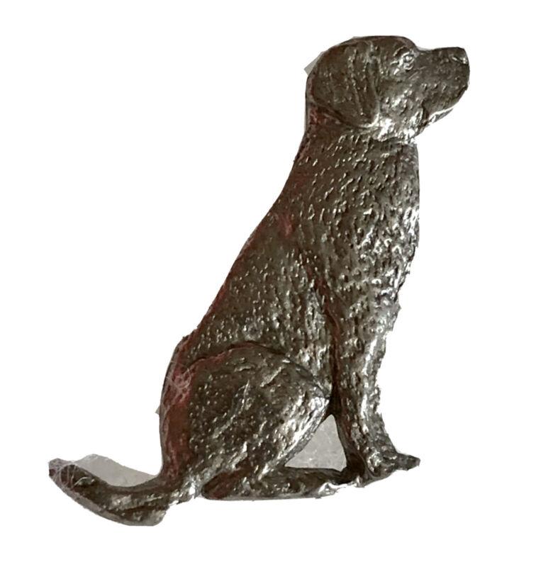 Vtg Labrador Retriever Pin 1987 GG Harris Dog Lover Pewter Figural Brooch A581