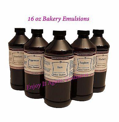 Lorann 16 Oz Bakery Emulsions Flavors Premium Gourmet Baking Emulsion Flavor New