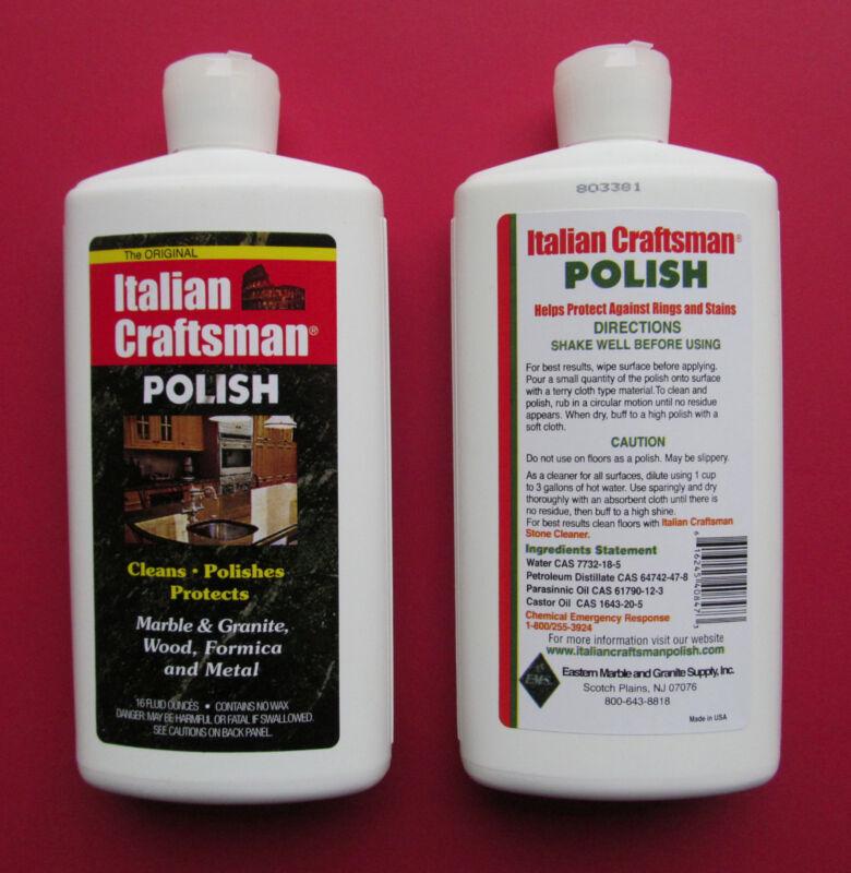 Granite and Marble Polish Italian Craftsman Polish 1-16 OZ Bottle FREE SHIPPING