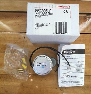 Honeywell Zone Valve Motor 24v 5060 Hz 802360ua