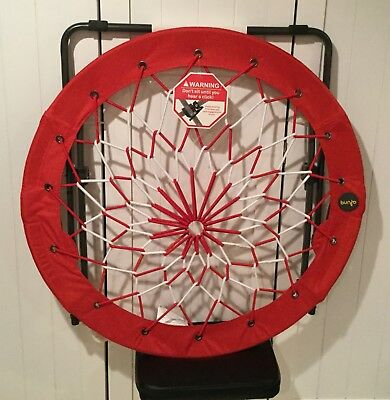 """NEW Bunjo Bungee Chair Seat Red White Black 32"""" Round Shape Local Pick Up NJ"""