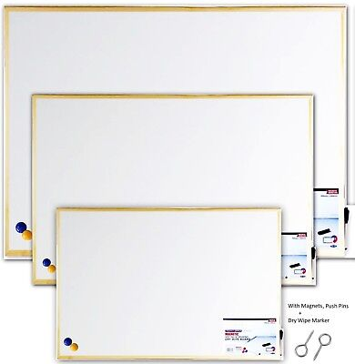 MAGNETIC DRY WIPE WHITE BOARD DRYWIPE OFFICE & NOTICE BOARD WITH MAGNETS MARKER