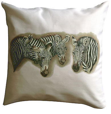 Zebra Themed Cotton Cushion Cover - Perfect Gift