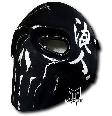 MAXNETO Airsoft Mask Army of Two Paintball BB Gun Protective Gear Ronin Zombie