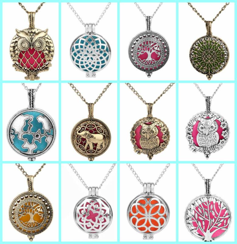 12 pieces essential aroma oil diffuser locket necklaces wholesale bulk