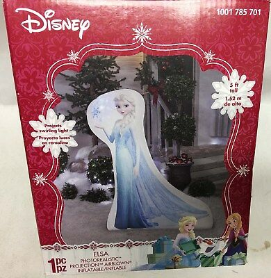 Gemmy 5' Photorealistic Disney Frozen Elsa Airblown Inflatable Christmas Holiday