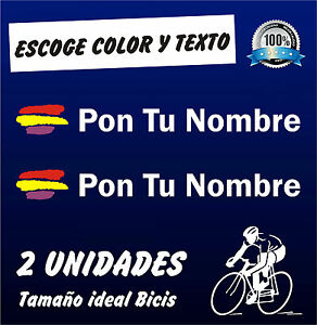 PEGATINAS-2-BANDERA-REPUBLICA-ESPANA-CON-NOMBRE-VINILO-BICI-BIKE-REPUBLICANA