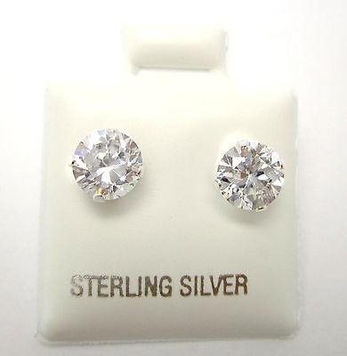 1 Paar MINI Ohrstecker BRILLI Silber 925 Zirkonia Stein 6mm Neu