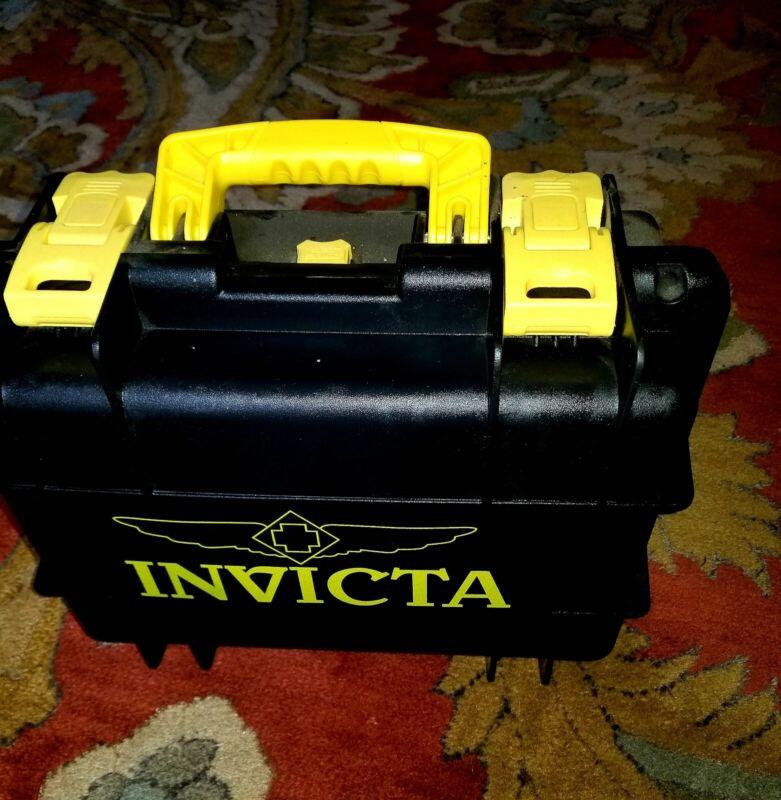 INVICTA 8-SLOT WATCH STORAGE COLLECTOR BOX IMPACT RESISTANT CASE YELLOW & BLACK