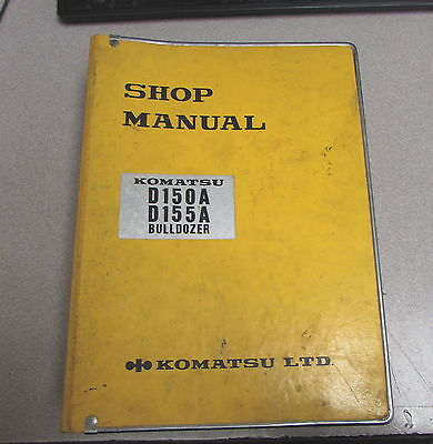 Komatsu D150a D155a Bulldozer Shop Service Repair Manual 1982