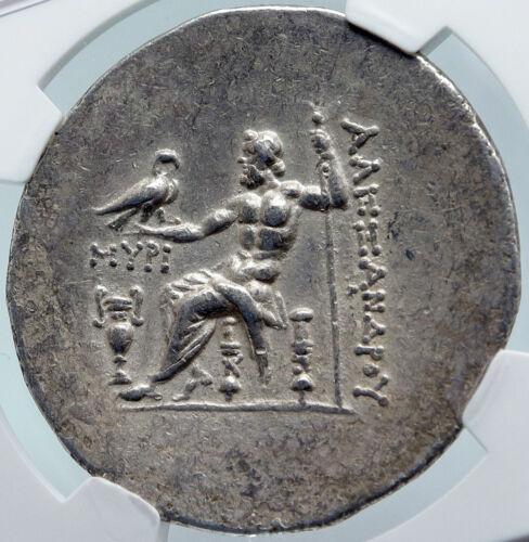 Myrina In Aeolis Ancient Silver Greek Tetradrachm Coin Alexander Iii Ngc I85484