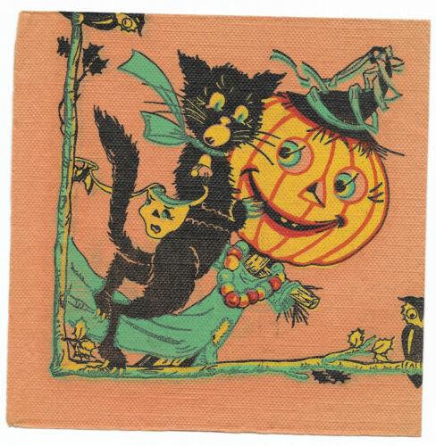 Vintage Crepe/Paper Halloween Napkin ~ Jack O