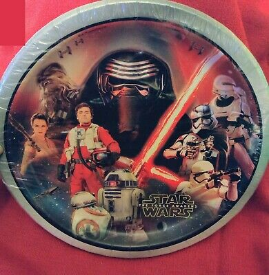 Star Wars Force Awakens Large Lunch Plates - Star Wars Paper Plates