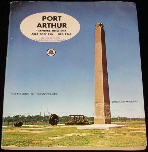 1965 TEXAS TELEPHONE DIRECTORY, PORT ARTHUR, AREA CODE 713