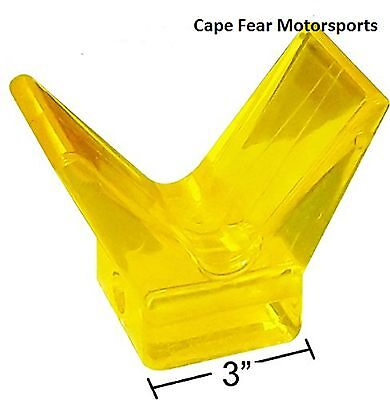 """3"""" Yellow Poly Bow Stop Boat Trailer PWC Watercraft Trailer Deep Vee 4.5"""" Wide"""