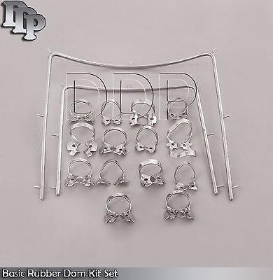 Basic Rubber Dam Kit 16 Pieces Set Dental Surgical Instruments