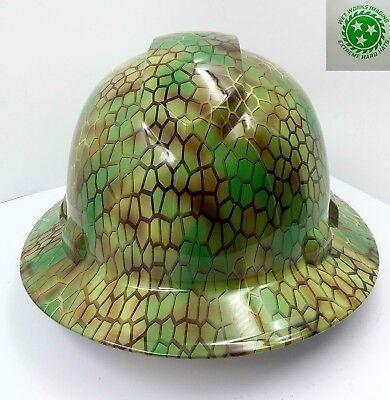 Full Brim Hard Hat Custom Hydro Dipped New Ninja Turtle Shell New