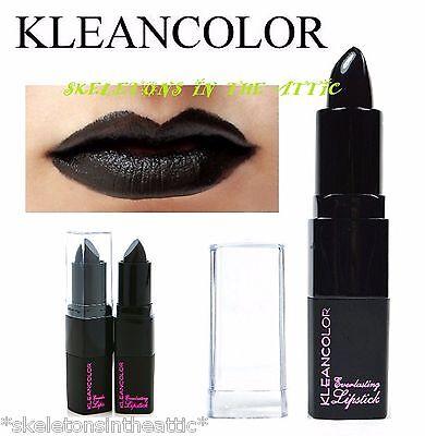 Kleancolor Full Size Round EVERLASTING LIPSTICKS - BLACK color Lipstick