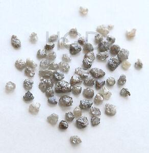 100% NATURAL Loose Rough Raw Uncut Rare Real Diamonds Dark Grey 2.60mm 5 crts+