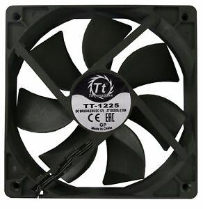 THERMALTAKE TT-1225 120MM 12CM 3 PIN HIGH PERFORMANCE COOLING FAN BLACK OEM