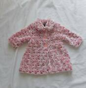 Pumpkin Patch pink white faux fur Size 0 jacket SO SOFT 6 - 12 mo Carindale Brisbane South East Preview