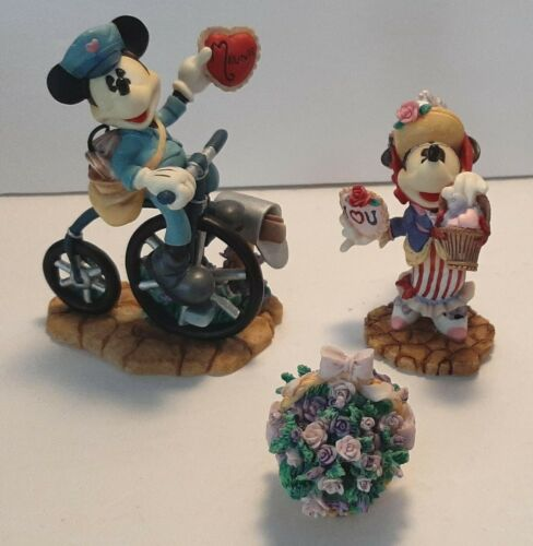Vintage Disney Enesco Mickey Minnie Mouse My Funny Valentine Oh Beautiful Doll