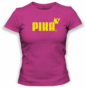 Pokemon-T-Shirt-Pikachu-Puma-Tshirt-Cartoon-TV-Show-Womens-T-Shirt