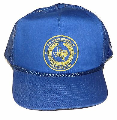 Texas Council of Treasure Clubs Snapback Hat Cap Metal Detecting Club Vintage
