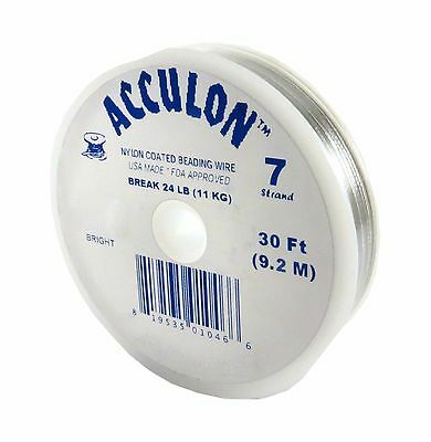 Tigertail Acculon Bead Stringing Wire 7 strand 30 ft