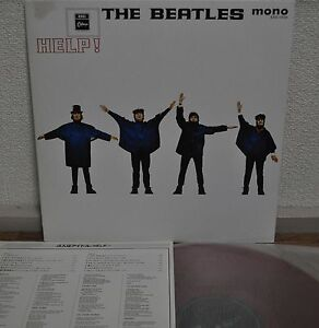 The-Beatles-Help-Japan-LP-Red-Vinyl-Toshiba-EAS-70134-Insert-Mono