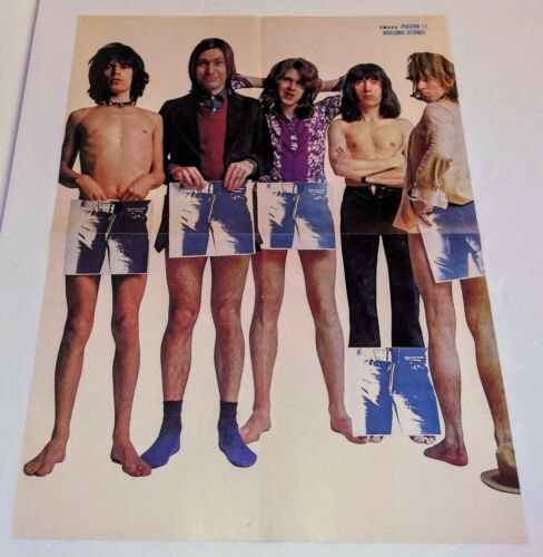 ROLLING STONES Rare Orig 1971 Circus Promo Poster For Sticky Fingers Lp Album