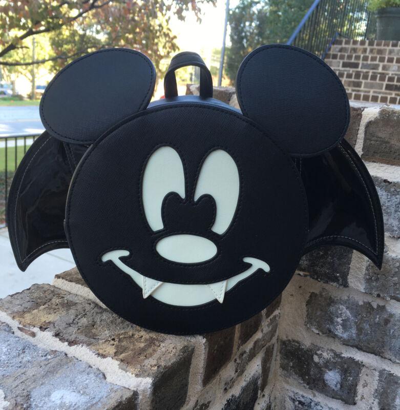 New With Tags! Disney Loungefly Vampire Bat  Mickey Purse! Spooky Fun!