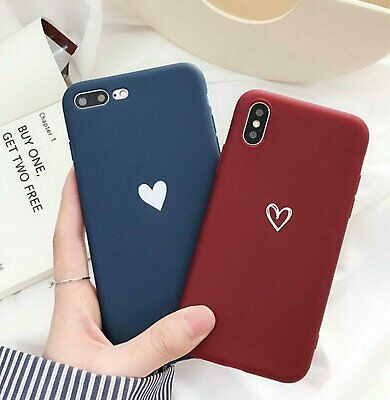 For iPhone Xs Max XR 8 7 Plus Ultra Slim Case Matte Heart Protective Phone Cover Cases, Covers & Skins