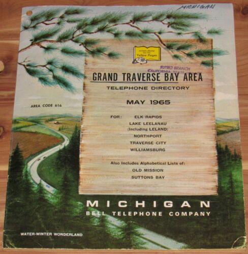 1965 GRAND TRAVERSE BAY AREA, MICHIGAN TELEPHONE DIRECTORY, AREA CODE 616