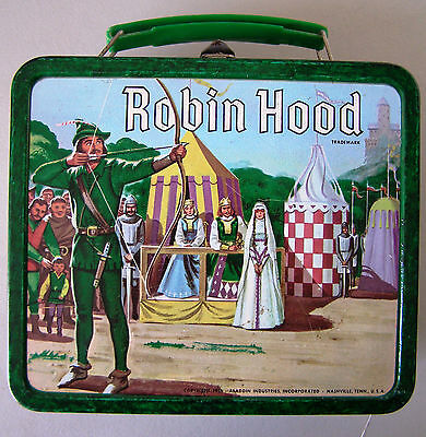 Robin Hood Lunchbox with Thermos, 1956, Excellent condition