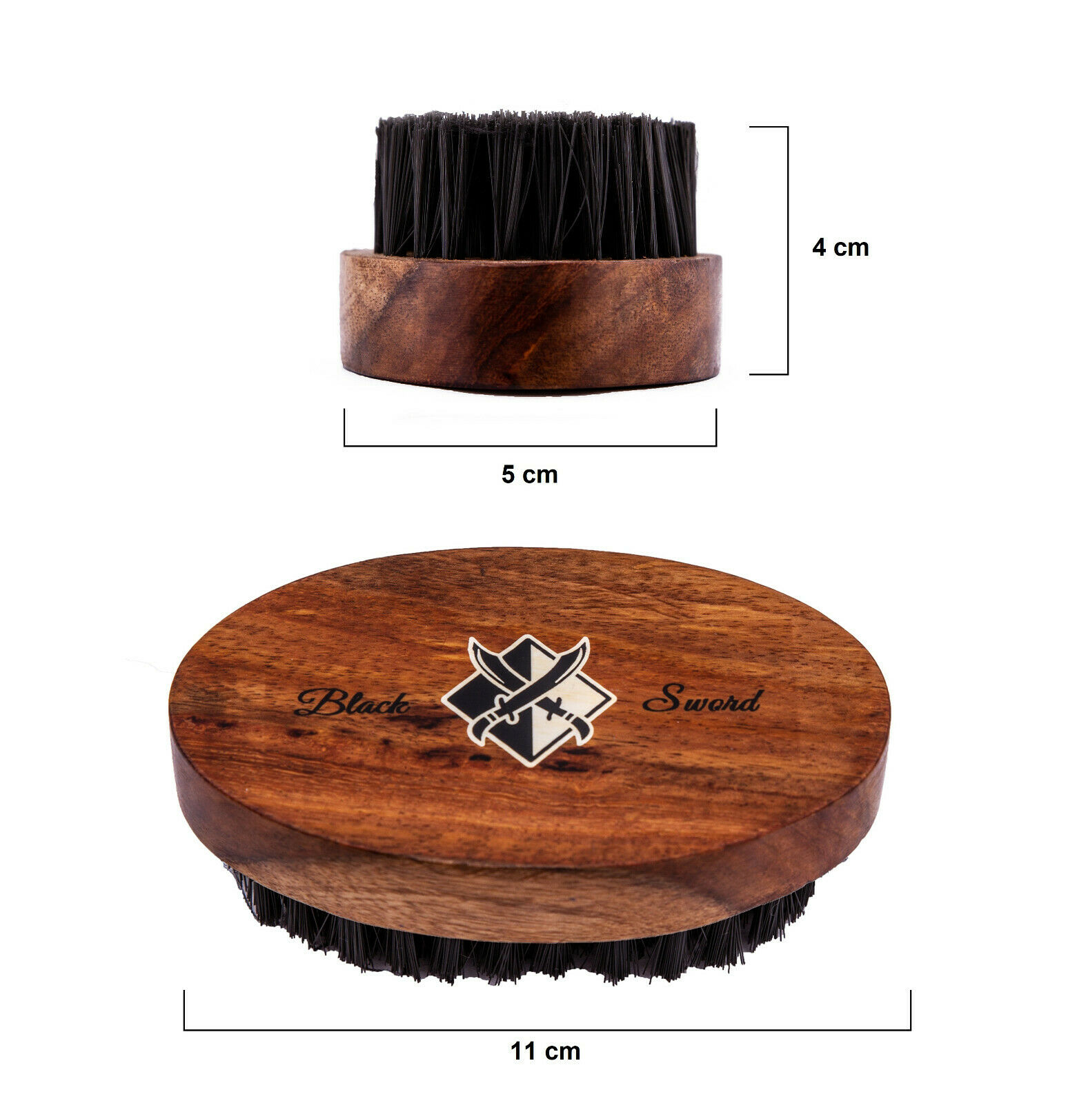BlackSword Bartbürste | Haarbürste | Bürste | Barbierbürste | groß