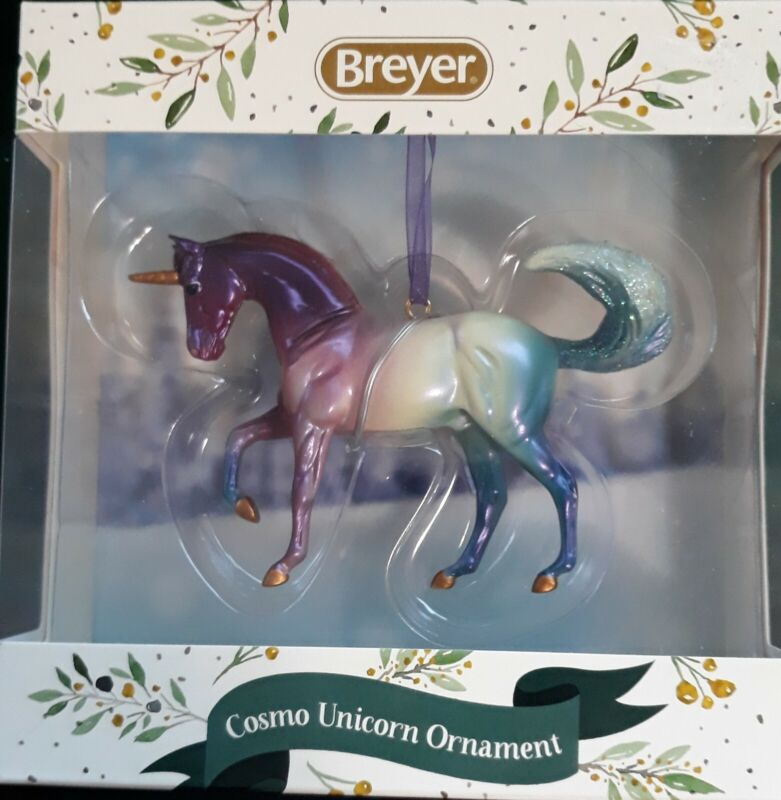 BREYER Horses Holiday Line 2020 Cosmo Unicorn Ornament Collectible NEW