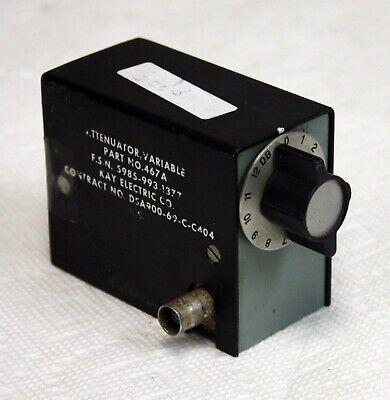 Kay Electric Model 467a Variable Step Attenuator 0db To 12db X 1db Steps