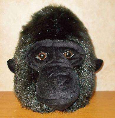 "Gorilla Head Wall Hanging - Beverly Hills Teddy Bear Co -  8"" x 11"" LARGE"
