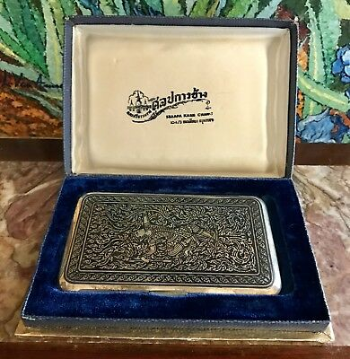 Fine Vintage Sterling Silver Neilloware Cigarette Case ~Unused ~Thailand ~Siam