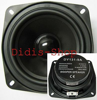"""130 mm 5"""" Bass Lautsprecher 50w / 8 ohm Basslautsprecher NEU 130mm 50 Watt 13cm"""
